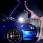 Nội y hồng ngọt ngào quyến rũ Subaru Impreza 1